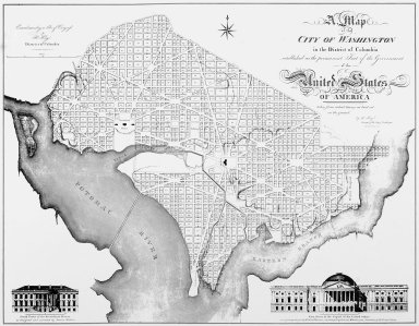 Map of the City of Washington in the District of Columbia Established as the Permanent Seat of the Government of the United States of America