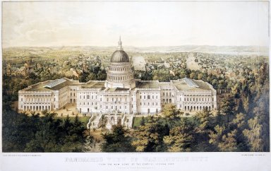 Panoramic View of Washington City from the Dome of the Capitol, Looking East