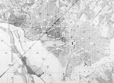 Topographical Map of the District of Columbia, Surveyed in the Years 1856-59