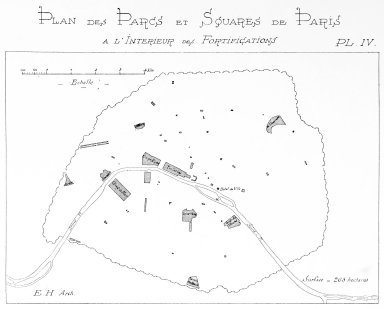 Map of Parks and Squares of Paris