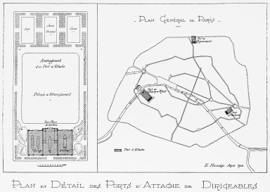 Plan of Paris with Proposed Airship Depot