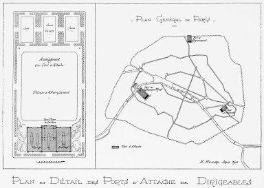 Plan of Paris with Proposed Airship Depot