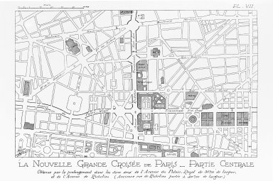 Plan of Paris with the Great Crossing