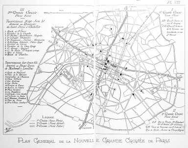 General Plan of Paris with the New Great Crossing