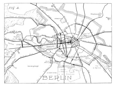 Map of Berlin with the Principal Roads Indicated