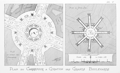 Plans of Intersections of the Grands Boulevards