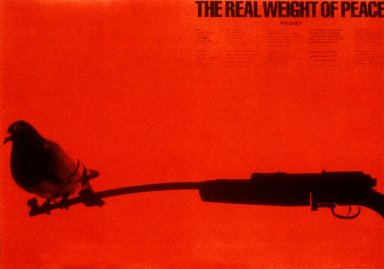 Real Weight of Peace Poster