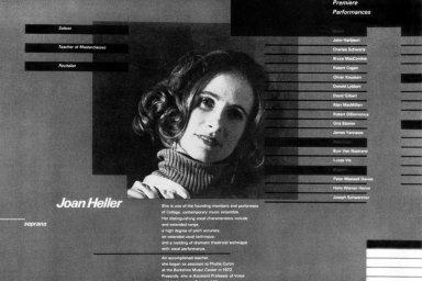 Brochure for Singer Joan Heller