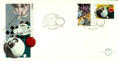 Stamp and First Day Envelope with Billiards