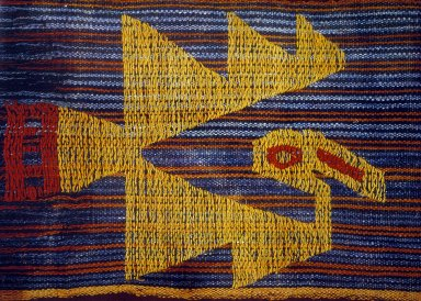 Woven Cloth with Flying Bird Motif
