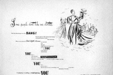 Newspaper Advertisement for Saks Fifth Avenue 'Some People Don't Like Our Clothes'