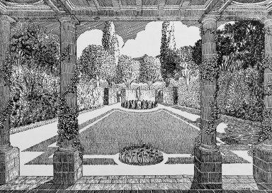 Garden on a Rectangular Plot, 28 x 65 Meters