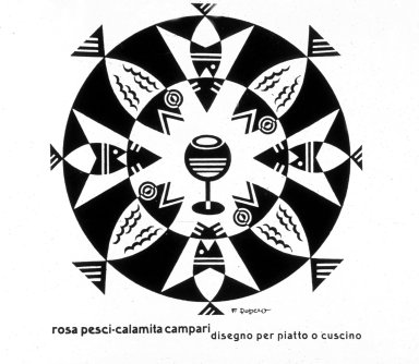 Campari Advertisement - Rosa Pesci-Calamita Campari