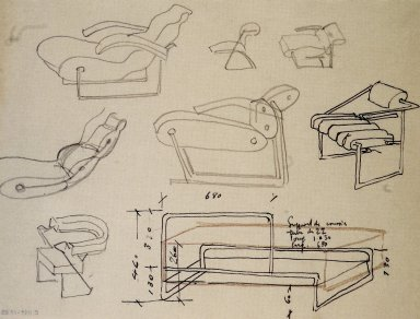 Chair Studies, Including Nonconformist Chair and Day Bed Designs