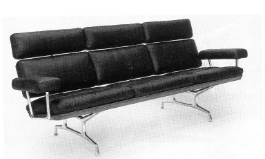 Eames Teak and Leather Sofa
