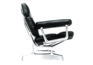 Eames Teak and Leather Sofa