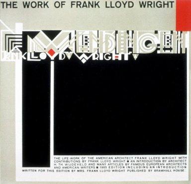 Wendingen Magazine Cover, 1965 Frank Lloyd Wright Edition