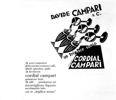 Cordial Campari Advertisement - Un Triplice Sorso