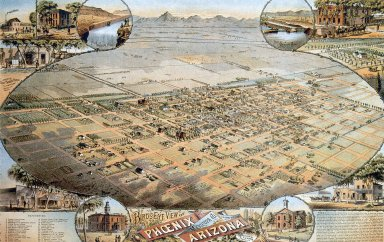 Bird's Eye View of Phoenix, Maricopa Co., Arizona