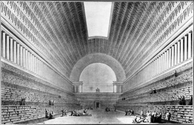Interior View of the Bibliotheque Nationale