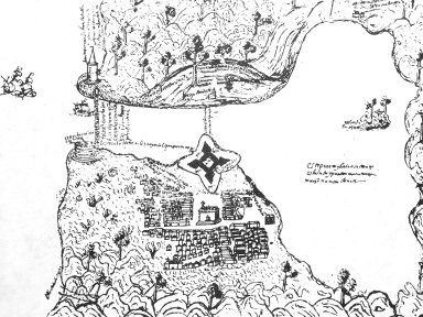 Plan of Havana's Port Showing the Village and Castillo de la Fuerza