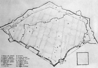 Plan of Havana, Prepared for the Engineer Cristobal de Roda