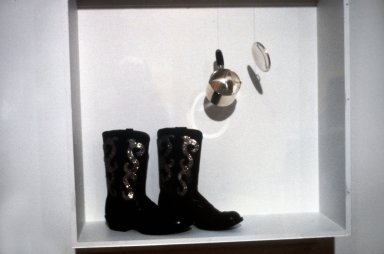 Boots and Silver Pot