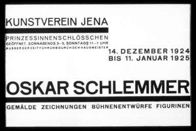 Oskar Schlemmer Invitation Card