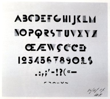 First Study for Bifur Typeface