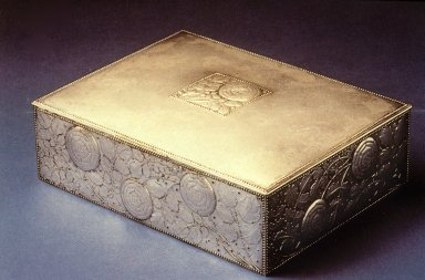 Silver Box, Repousse Floral Design