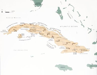 Map of Cuba with Provinces and Cuba with Surrounding Countries