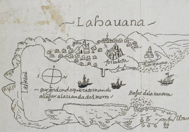 Map of the Bay and City of Havana in 1638