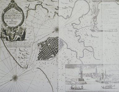 Map of the City and Port of Havana in 1739