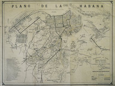 Map of Havana Based on Maps by Esteban Pichardo