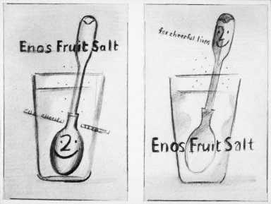 Sketches for Eno's 'Fruit Salt' Posters