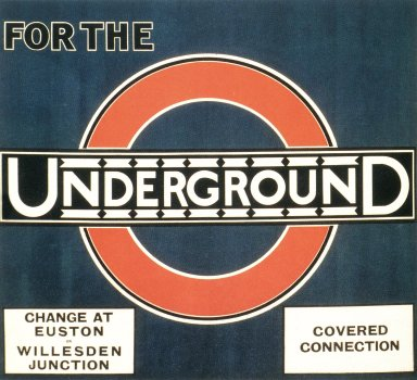 Underground Logo Using Johnston Sans Typeface