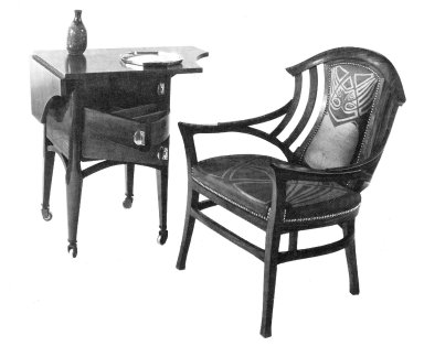 Armchair with Sewing Table