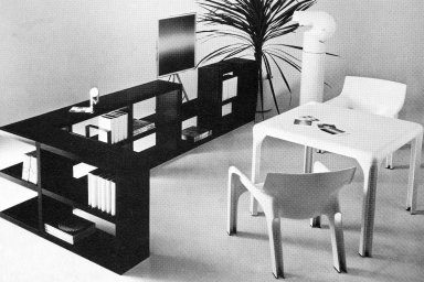 Table with Detachable Legs and Chairs