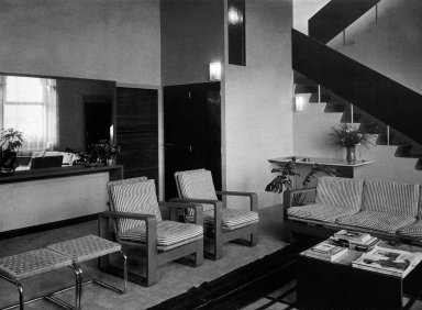 Armchair and Chaise Longue for the Villa Vanzetti