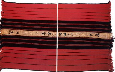 Naga Blanket with Painted Band of Animals