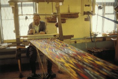 Man Weaving Abr Silk in the Margellan Area
