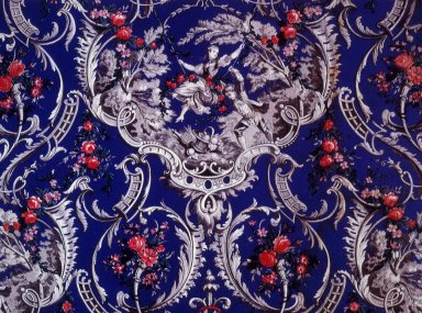 Fabric with Motif From Fragonard's The Swing