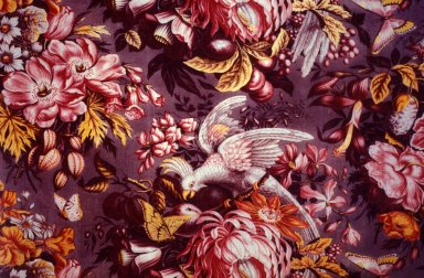 Alsatian Fabric with Birds and Flowers