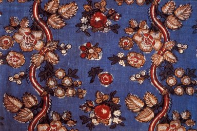 Fabric with Blue Ground