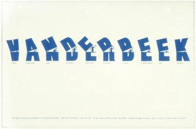 Announcement for an Art Gallery Exhibit- Vanderbeek