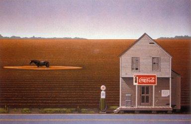 Illustration for Atlantic Monthly Magazine - Rural Gas Station
