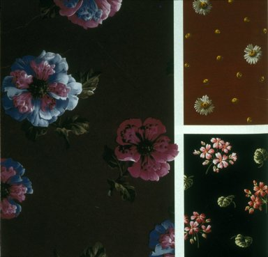 Floral Fabrics with Dark Ground
