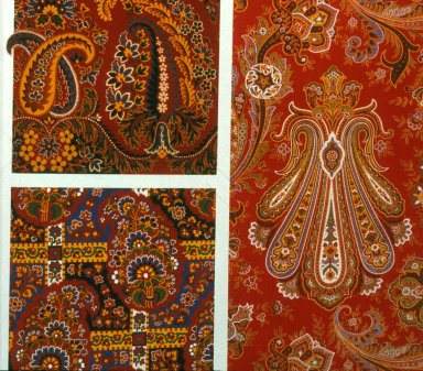 Paisley Prints in Turkey Reds