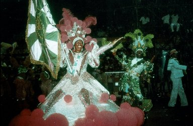 Samba School Flag Bearer in Carnival Parade