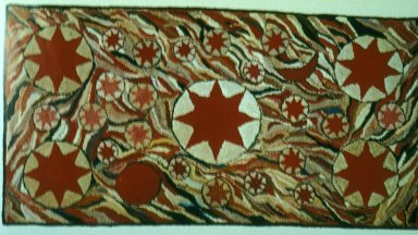 Hooked Rug with Stars
